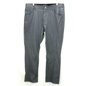 Eddie Bauer Outdoor Hiking Pants 38 x 30 Nylon Stretch Gray Water Resistant EUC